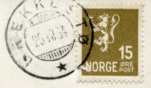 Pensjonat Nielsenów, Brekkestø, Norwegia - znaczek